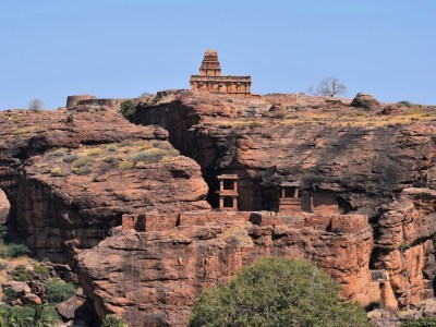 Upper Shivalaya, North Fort, and Watch Towers in Badami, Karnataka, India
