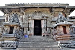 North entrance of the Chennakeshava Temple in Belur, Karnataka, India
