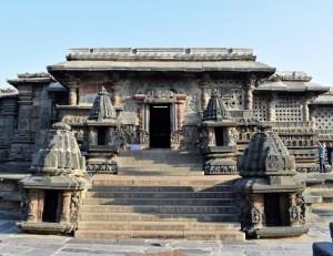South entrance of the Chennakeshava Temple in Belur, Karnataka, India
