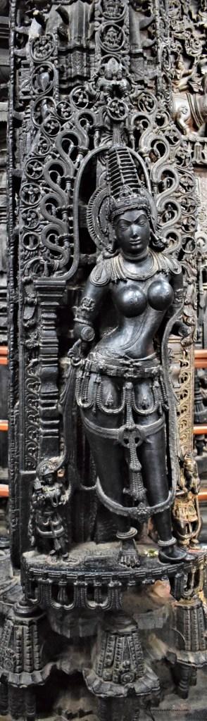 Mohini Pillar - Mohini carved on a pillar inside Navaranga