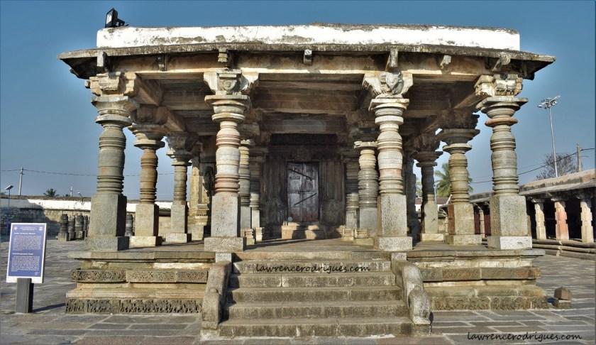 Entranc to the Ranganayaki Shrine situated northwest of the Belur Chennakeshava Temple complex in Karnataka, India