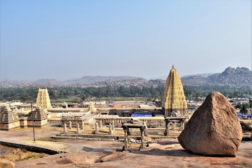 Hampi Virupaksha Temple - A view from the Hemakuta hill