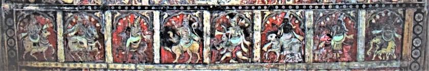 Ashta Dikpalas - Painting on the Hampi Virupaksha Temple ceiling