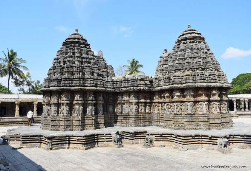A view from the southwest side of the Somanathapura Keshava Temple in Karnataka, India