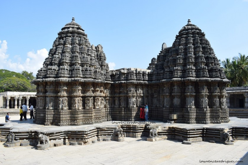 A view from the northwest side of the Somanathapura Keshava Temple in Karnataka, India