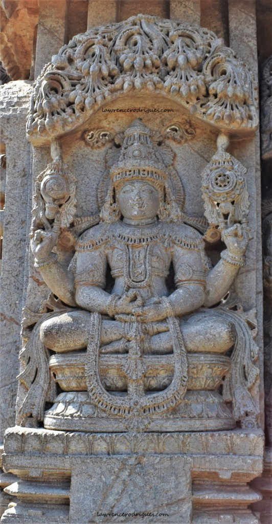 Badrinatha - Sculptural relief carved on the outer wall of the Somanathapura Keshava Temple, Karnataka, India.