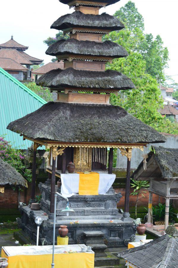Inner sanctum of a temple in Besakih in Bali, Indonesia