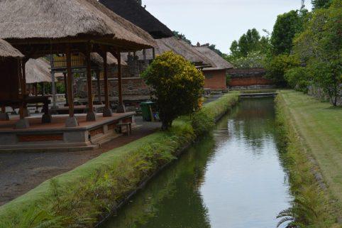 Moat surrounding the Taman Ayun Temple in Bali, Indonesia