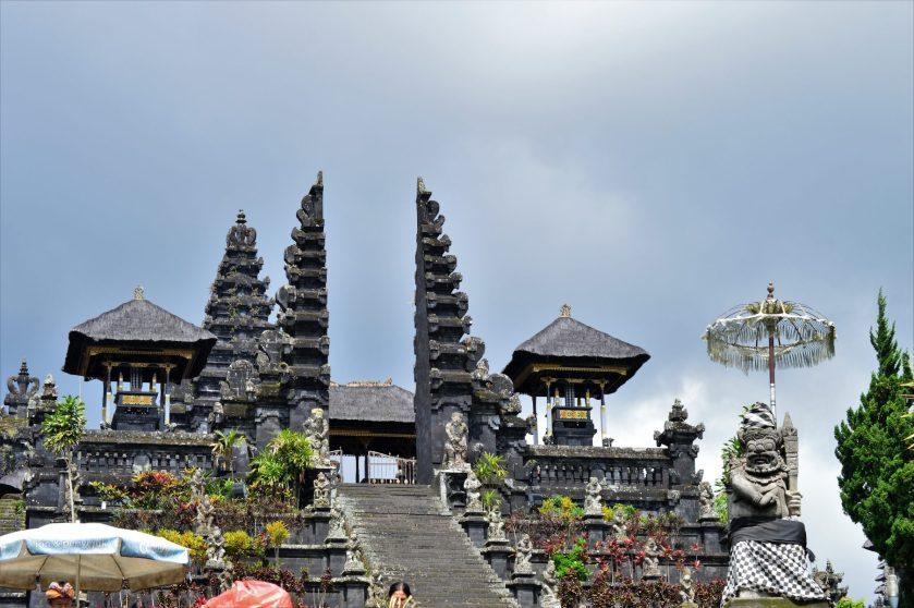 Main entrance to the Besakih Temple in Bali, Indonesia