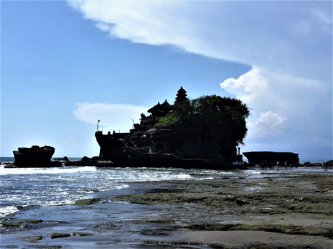 Tanah Lot Temple on the western seashore of Bali, Indonesia