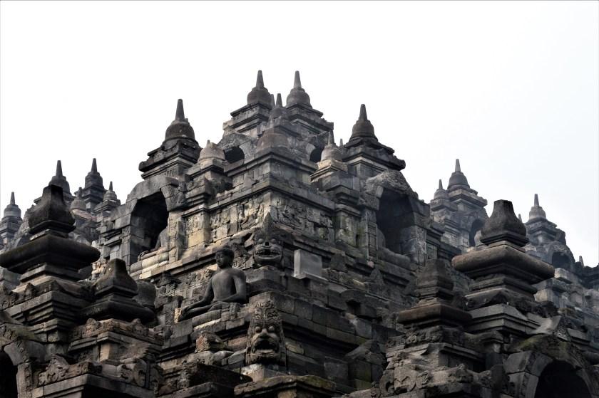 A view of the Borobudur Temple at Yogyakarta, Indonesia