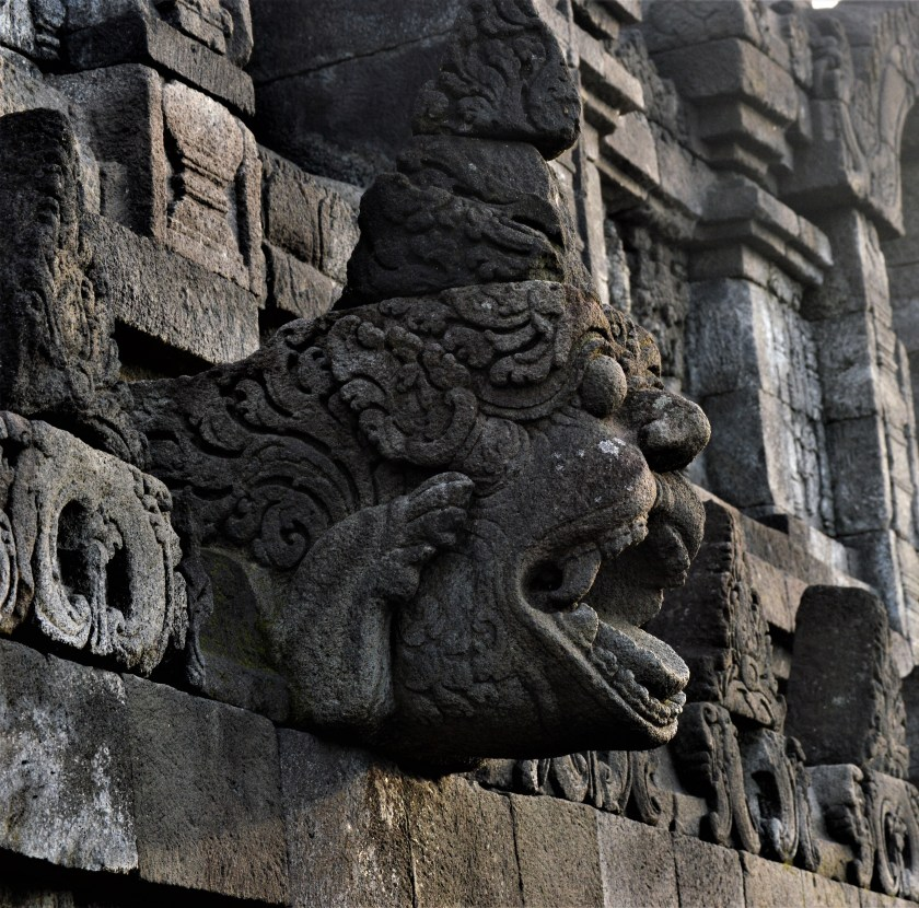 Borobudur: A decoration on the inner wall of the corridor