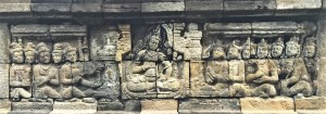Gandavyūha Story - Bas-relief depicting Bodhisattva Samantabhadra delivering a sermon carved in the Rūpadhātu layer of Borobudur