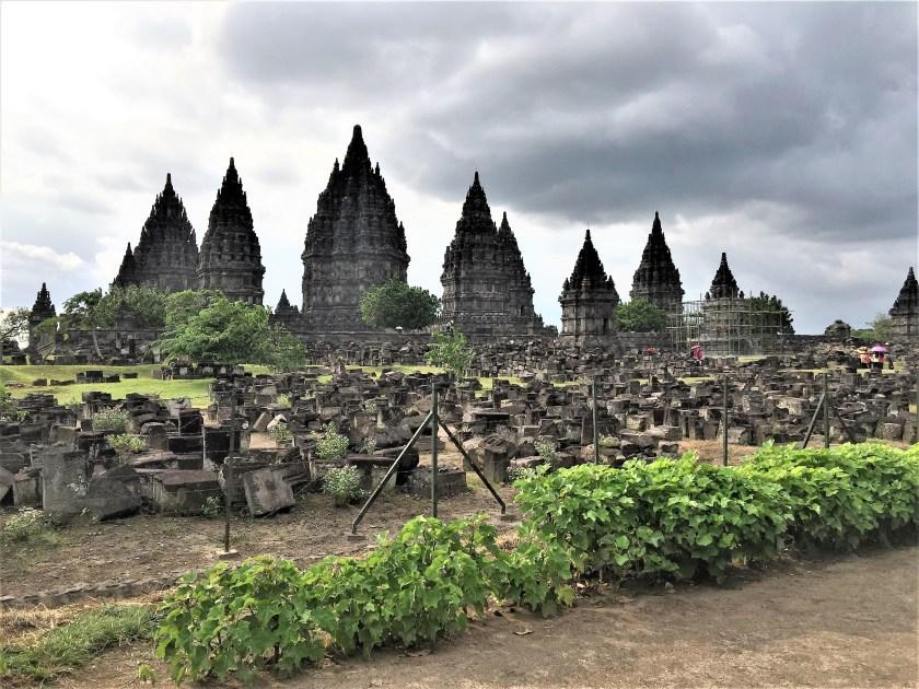 Prambanan temple complex in Yogyakarta, Indonesia