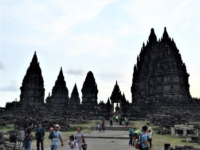 Main Entrance to the Prambanan temple complex in Yogyakarta, Indonesia