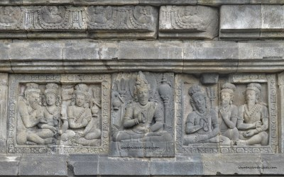 Saptarishis carved in the Shiva Temple located in Prambanan, Yoogyakarta, Indonesia