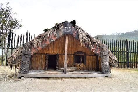 Model of a Maori House in Te Puia, Roturoa