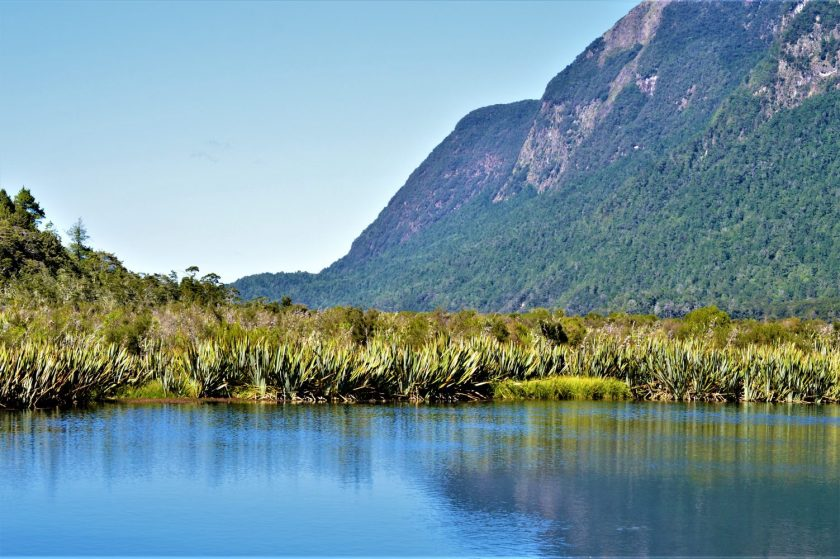 Fiordland Mirror Lakes in the South Island, New Zealand