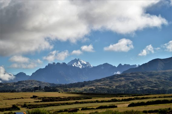 Andes mountain peak near Chinchero in Peru