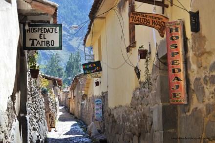 An Inca village near Ollantaytambo in the Cuzco region of Peru
