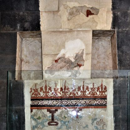 Colonial mural painting found in the Qorikancha Temple complex in Cusco, Peru