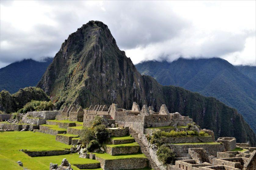 Central Plaza in Machu Picchu, Peru