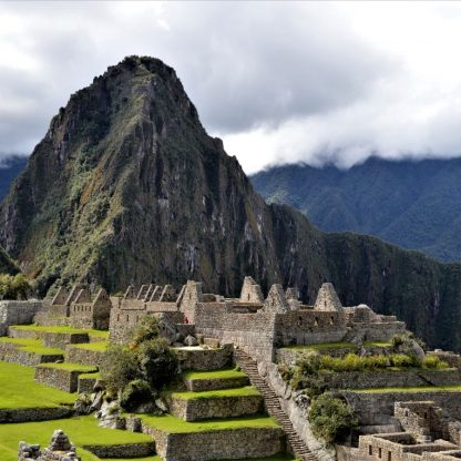 Central Plaza in Machu Picchu, Peru