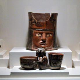 Wari pottery on display at Museo Larco in Lima, Peru