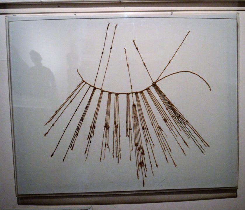 Quipu - Inca recording device on display at Museo Larco in Lima, Peru