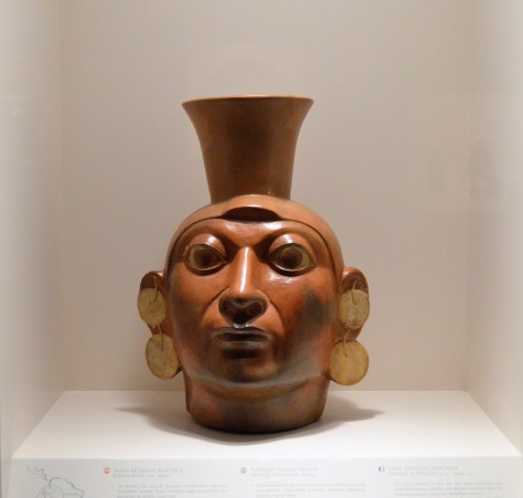 Moche Warrior on display at Museo Larco