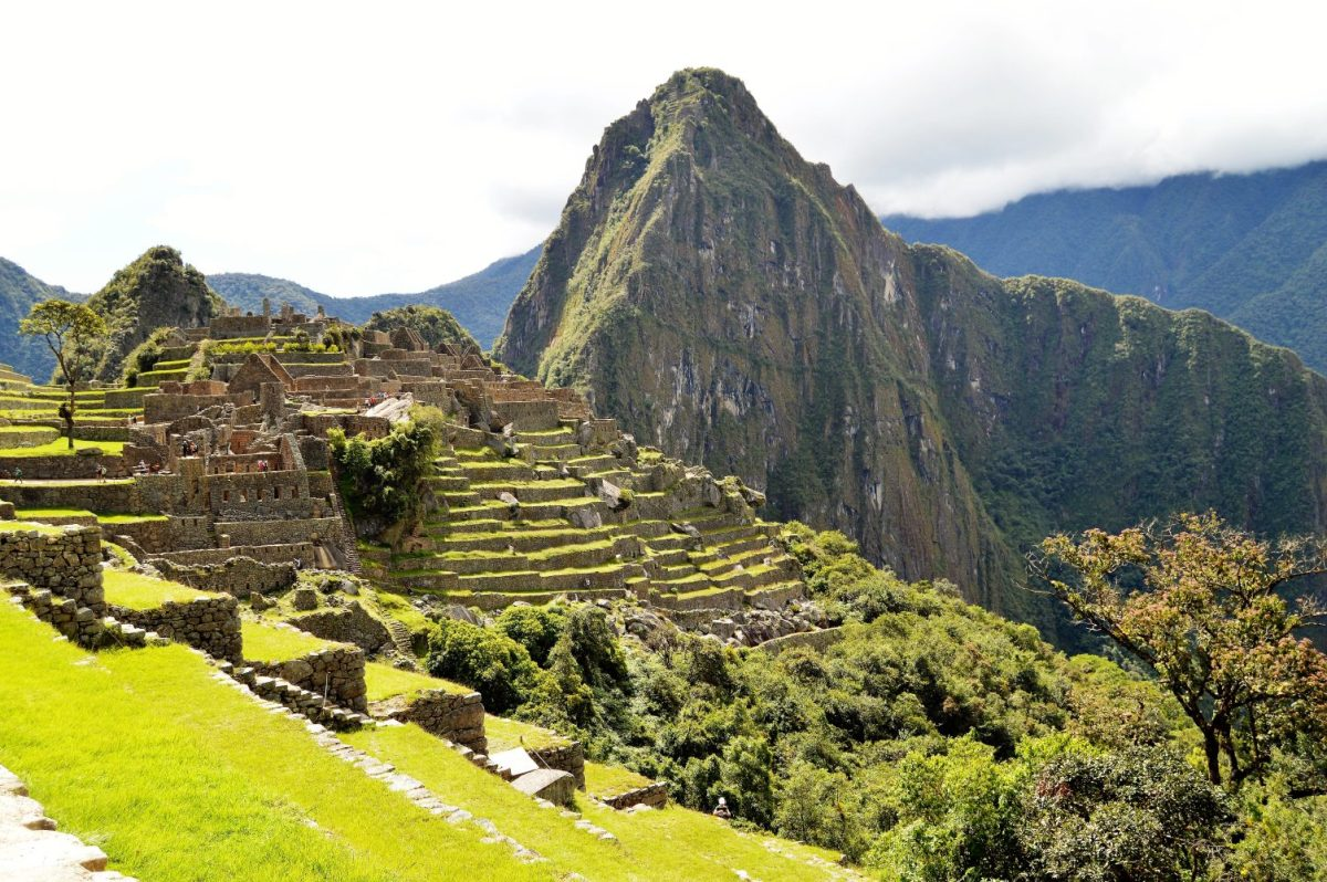 A view of the citadel of Machu Picchu in Peru