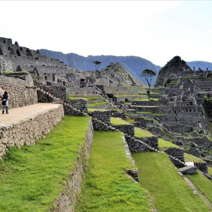 Agricultural terraces and residential quarters in Machu Picchu, Peru