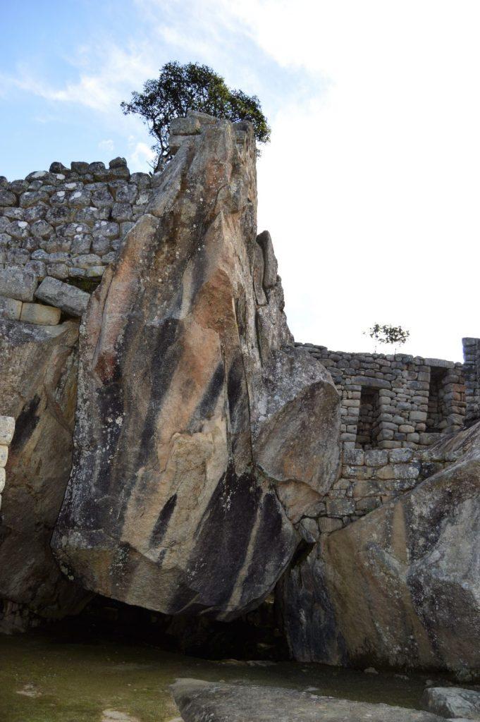 Condor Temple in Machu Picchu, Peru