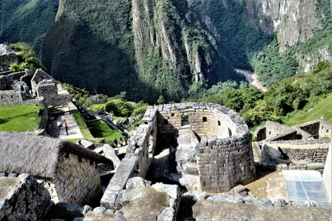 Sun temple in Machu Picchu