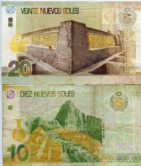 Peruvian currency - Nuevos Soles