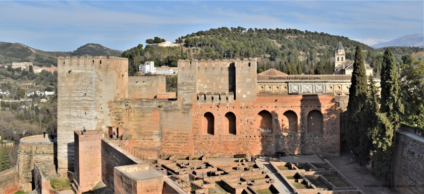 The eastern part of the Alcazaba located at the Alhambra in Granada, Spain