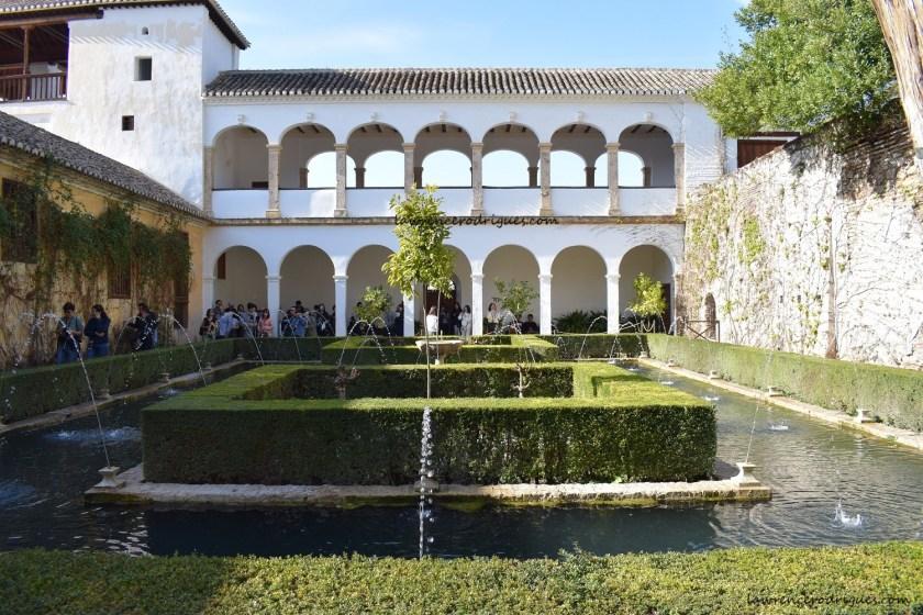 Patio de la Sultana (Sultana's Court) in the Generalife, Granada, Spain