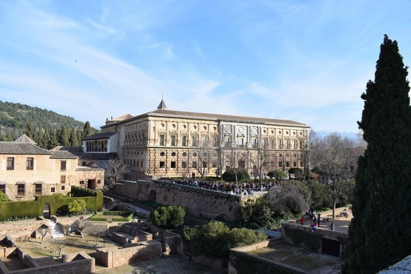 Palacio Carlos V (Charles V Palace) located in the Alhambra, Granada, Spain