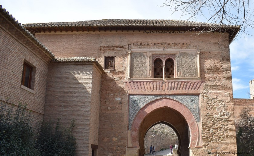 Puerta del Vino (Wine Gate) - East Facade at the Alhambra in Granada, Spain
