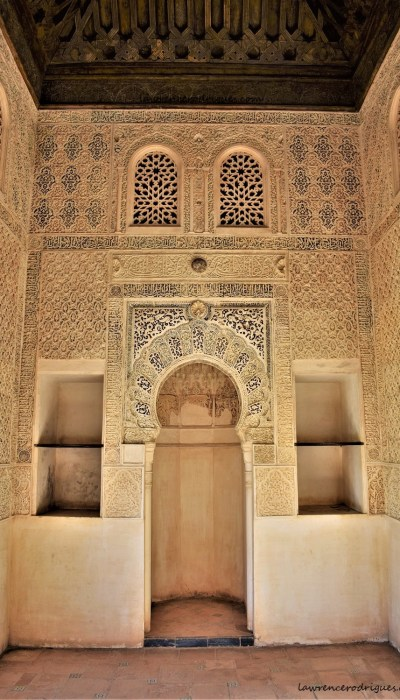 An interior view of the Oratory, a building located in the Partal Gradens, Alhambra, Granada, Spain