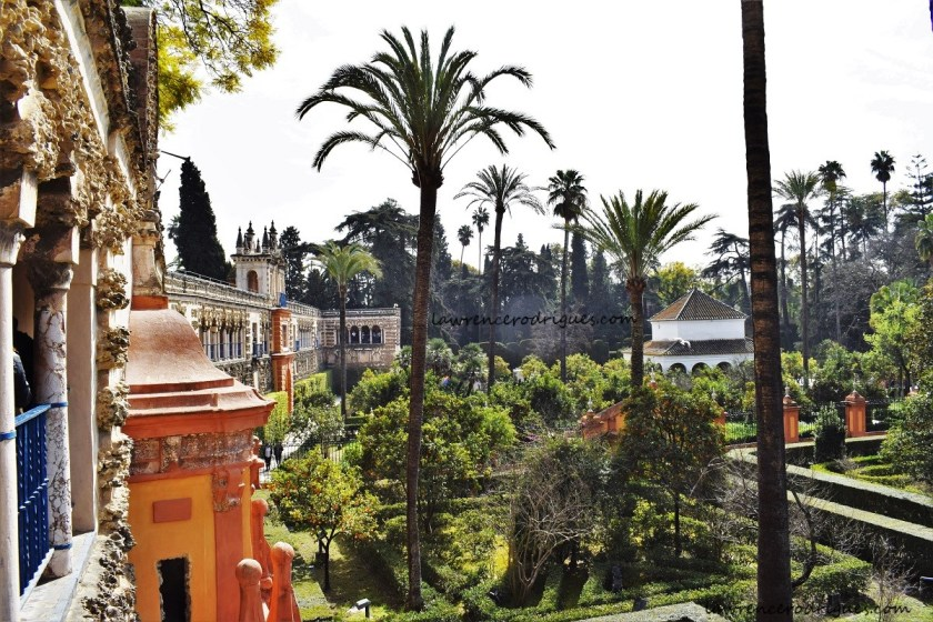 Gallery of the grotesque in the gardens of the Real Alcázar of Seville, Spain