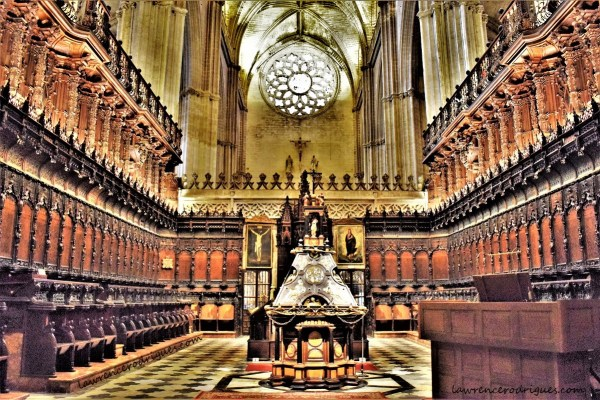 Interior of the Coro (Choir) of the Seville Cathedral