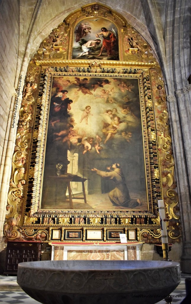 The Vision of St. Anthony of Padua - A Painting by Bartolomé Esteban Murillo in the Baptistery Chapel