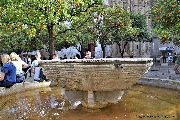 Moorish fountain used of ritual purification situated in the Patio de los Naranjos of the Seville Cathedral