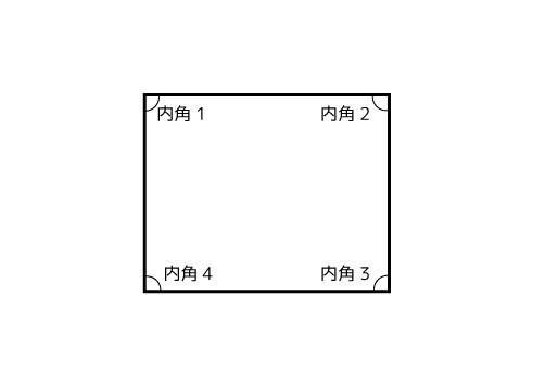 四角形の内角の和