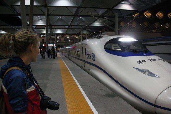 Скорость такого поезда может доходить до 400 км/ч