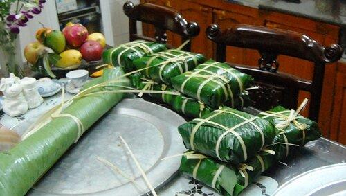 """Вьетнамское новогоднее блюдо """"банчун"""""""