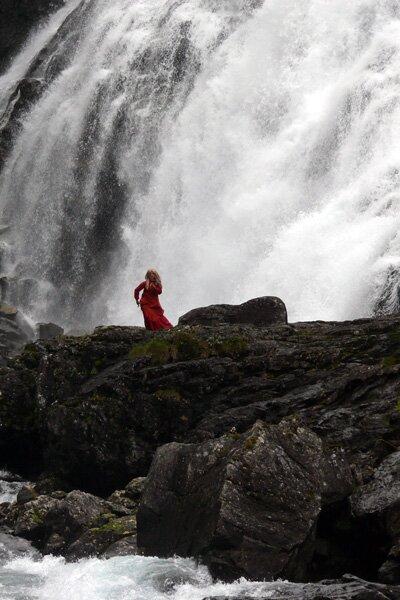 Хюльдра водопада Кьосфоссен