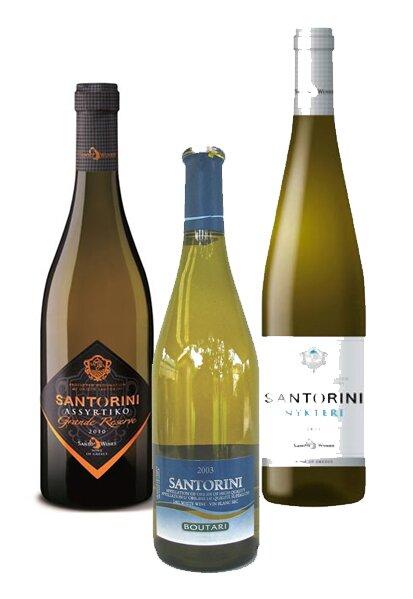 Белые сухие вина Санторини