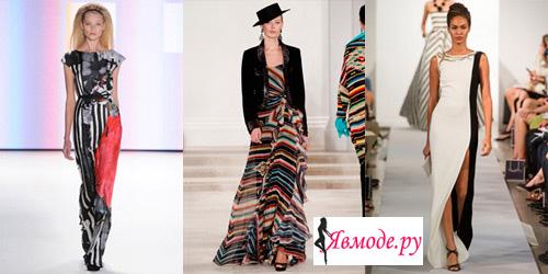 Мода 2013 - платья в пол